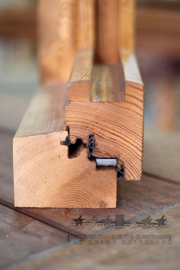 Detalle perfil ventana de madera la buena estrella for Perfiles de madera